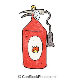 textured cartoon fire extinguisher - freehand textured...