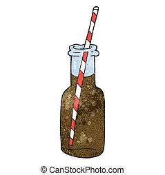 textured cartoon fizzy drink bottle - freehand textured...