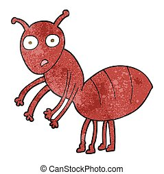 textured cartoon ant - freehand textured cartoon ant