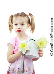 Mothers Day Present - Adorable little girl blows a kiss for...