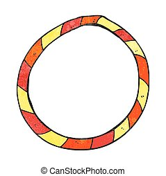 textured cartoon hula hoop - freehand textured cartoon hula...