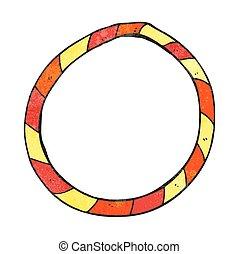 textured cartoon hula hoop - freehand textured cartoon hula...