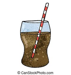textured cartoon fizzy drink - freehand textured cartoon...