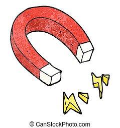 textured cartoon magnet - freehand textured cartoon magnet