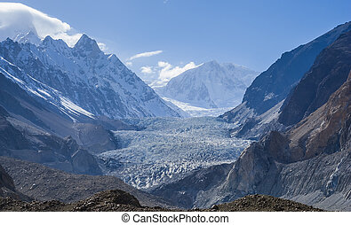 Passu Glacier. Karakorum region. Northern Pakistan