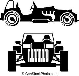 Racing car vintage