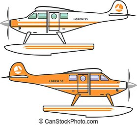 Hydroplane Floating plane vector