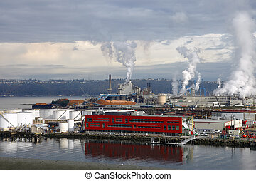 Industrial landscape, Tacoma WA. - An industrial landscape...