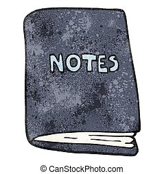 textured cartoon note book - freehand textured cartoon note...