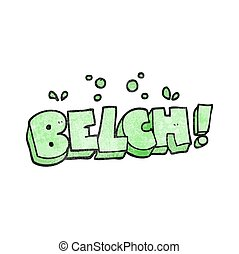 textured cartoon belch text - freehand textured cartoon...