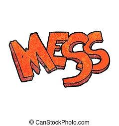 textured cartoon mess - freehand textured cartoon mess