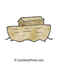 textured cartoon noah's ark - freehand textured cartoon...