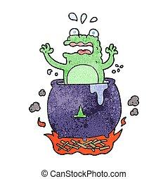 textured cartoon funny halloween toad