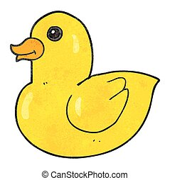 textured cartoon rubber duck - freehand textured cartoon...