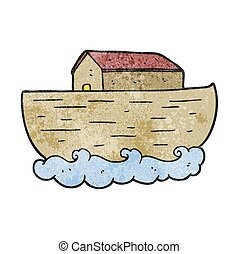 textured cartoon noahs ark - freehand textured cartoon noahs...