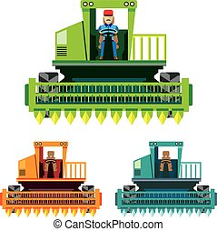 Combine with farmer inside Vector illustration