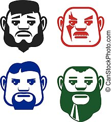 Man vector faces