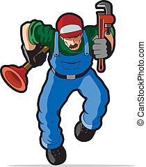 Plumber vector illustration. - Illustration of plumber...