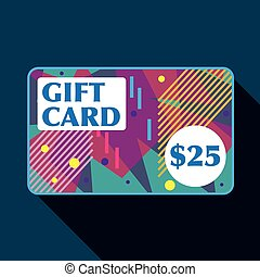 Twenty Five dollar gift card Vector