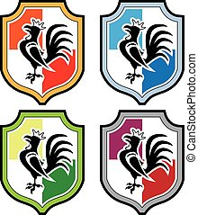 Rooster Shield Logo