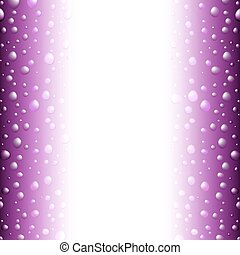 violet saturated border with water drops and copyspace for...