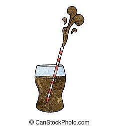 textured cartoon fizzy drink - freehand textured cartoon...