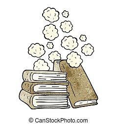 Bücherstapel gezeichnet  Vektor Clip Art von gezeichnet, stapel, buecher, karikatur, hand ...