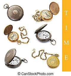 pocket watch set - set of different pocket watch images over...