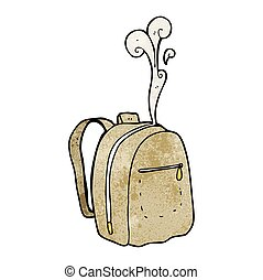 textured cartoon rucksack - freehand textured cartoon...