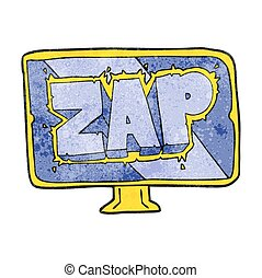 textured cartoon zap screen - freehand textured cartoon zap...