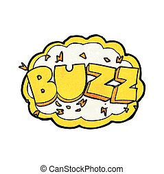 textured cartoon buzz symbol - freehand textured cartoon...