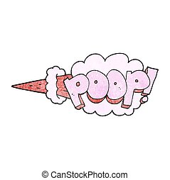 textured cartoon poop explosion - freehand textured cartoon...