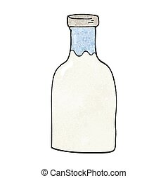 textured cartoon milk bottle - freehand textured cartoon...