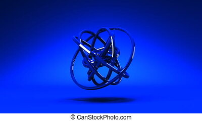 Blue Circle Abstract - Loop Able Blue Circle Abstract On...