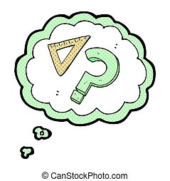 thought bubble cartoon set square - freehand drawn thought...
