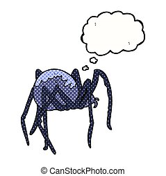 thought bubble cartoon creepy spider