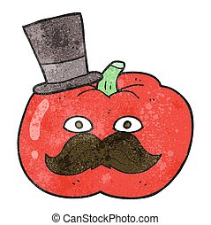 texture cartoon posh tomato - freehand drawn texture cartoon...