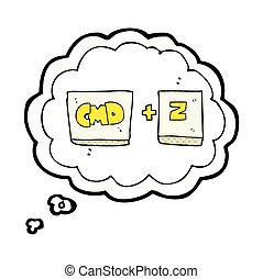 thought bubble cartoon command Z function - freehand drawn...