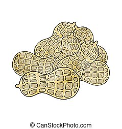 texture cartoon peanuts - freehand drawn texture cartoon...