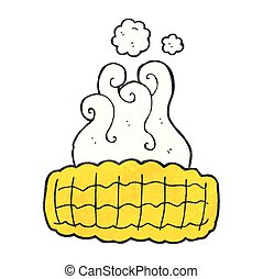 texture cartoon corn cob - freehand drawn texture cartoon...