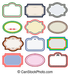 Vector set of labels - Vector frames collection with space...