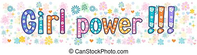 Girl power Greeting Banner - Girl power - Banner, greeting...