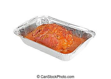Baked turkey-cock meat - Turkey-cock meat fillet on...