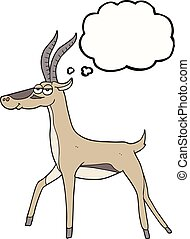 thought bubble cartoon gazelle - freehand drawn thought...