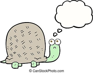 thought bubble cartoon sad turtle