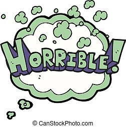 thought bubble cartoon word horrible