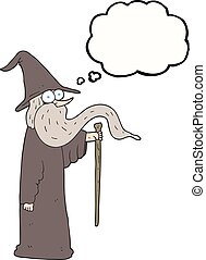 thought bubble cartoon wizard