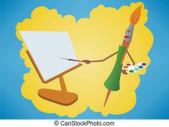 Brush-painter