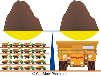 Capacity - Load dump truck is a few normal trucks