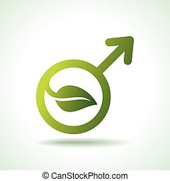 green Icon save environment concept